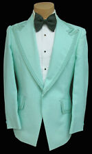 Men's Vintage Light Green Tuxedo Jacket with Trim Retro 1970's Disco Cosplay 42R