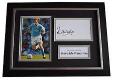 Steve McManaman Signed A4 FRAMED photo Autograph display Manchester City & COA