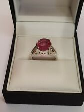 9ct White Gold Ruby Ring