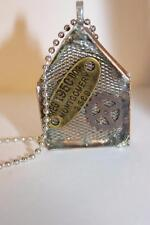 Handmade Artisan Steampunk Copper Box Necklace W/ Gear & Found Objects In Resin