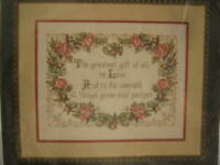 Bucilla Counted Cross Stitch The Greatest Gift 40476 NEW 11 x 14