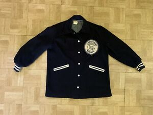 Vintage 1960's Felco Letterman Jacket Medium Chambersburg High School Trojans Pa