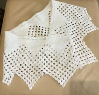 Antique French Pelmet French Knitted Lace Pelmet White Cotton Old Vintage