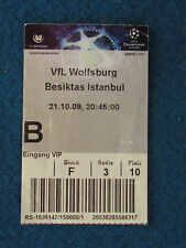 VFL Wolfsburg v Besiktas - 21/10/2009 - Champions League Ticket