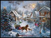 Chart Needlework Crafts DIY - Counted Cross Stitch Patterns - Merry Christmas