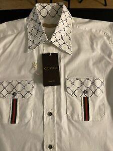 gucci mens shirt medium