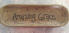 Amazing Grace Platter, Wall Decor Or Serving Tray