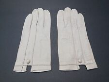 *DESIGNER LADIES BEIGE KID LEATHER GLOVES UNLINED SIZE 6.5 MADE IN FRANCE
