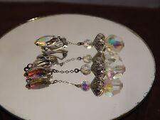 Beautiful Vintage Lewis Segal California Dangle Clip Earrings Signed