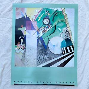 1991 Wassily Kandinsky Norton Simon Museum Poster Deadstock