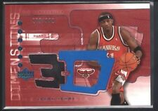 JASON TERRY 2003/04 UD TRIPLE DIMENSIONS HAWKS GAME JERSEY SP #/999 $15