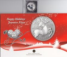 """CANADA, 2012, """"HAPPY HOLIDAY"""" $20 SILVER COIN UNCIRCULATED FRESH CONDITION"""