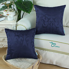 2Pcs Pillows Covers Cushion Covers Florals Jacquard Reversible Home Decor 20X20""