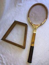 """Spalding Pancho Gonzales Tournament Tennis Racket Antique Vintage 4-1/4"""" Grip 27"""