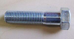 """7/16 UNF x 2""""  Hex Bolt - Bright zinc plate steel (Qty 4)"""