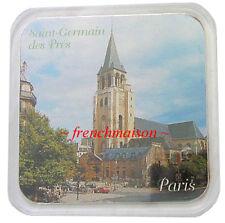French Saint-Germain des Pres Church Cafe de Flore Souvenir COASTER from PARIS