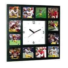Washington Redskins Robert Griffin III RG3 Clock with 12 pictures