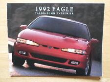 Eagle Talon premier sommet 1992 USA MKT brochure-AMC american motors