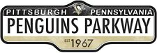 NHL PITTSBURGH PENGUINS STREET SIGN