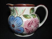 Blue Ridge Floral Milk Pitcher Jug Anne/Antique Two Shape - Excellent