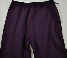 NWT! MENS JERZEES ATHLETIC GYM PANTS SIZE XL COTTON NAVY ELASTIC WAS