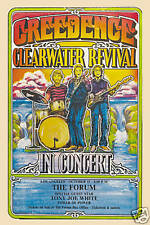 1970's Rock: John Fogerty & Creedence Clearwater Revival  L.A. Poster 1970 12x18