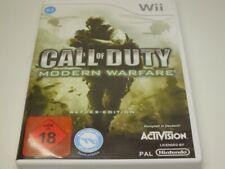 !!! NINTENDO Wii SPIEL Call of Duty Modern Warfare USK18 GUT !!!
