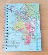World Traveller Map Spiral A5 Notebook Travel Journal Hard notebook
