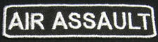 AIR ASSAULT Iron-On Patch/Badge for US Army for T-shirt Hat Cap Bag 25P