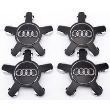 4x 135mm Audi Hub Cap Wheel Cover Hub Caps Black 4F0601165N