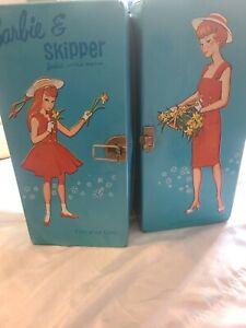 Vintage 1964 Barbie & Skipper Doll Blue SPP Case