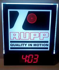RUPP - Quality in Motion, LED Light Digital Wall Clock, Mini Bike Snowmobile
