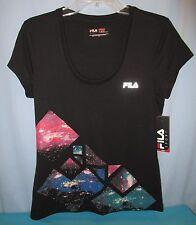 dd40534ff562 FILA SPORT~SMALL~Black Tie Geometric Tee Shirt WF53A015RG