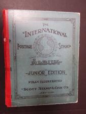 Old Scott International Junior Edition Album w/ Stamps
