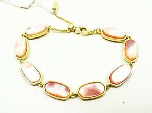 KENDRA SCOTT Millie Yellow Gold Plated Pink MOP Link Bracelet