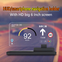 "6"" Screen Car GPS Navigation Holder HUD Head Up Display Projector Phone Bracket"