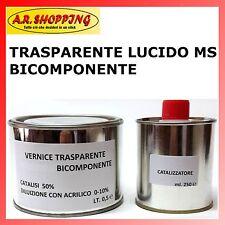VERNICE TRASPARENTE LUCIDO MS ANTIGRAFFIO 2K PER AUTO E MOTO CARROZZERIA ML.500