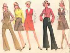 1960s Vintage Sewing Pattern Misses' Jumper Tunic Pants Skirt Blouse Groovy Look