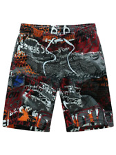Red Kaleidoscape Boardshorts