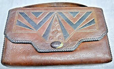 """AMITY Tooled Steer Hide Purse ~9"""" x 5 1/2""""  Arts & Crafts"""