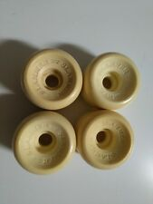 4 x KRYPTONICS SLAMMER WHITE SKATEBOARD WHEELS - NOS - OLD SCHOOL - 60MM 88A