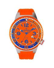 Runde Armbanduhren aus Silikon/Gummi und Edelstahl mit 12-Stunden-Zifferblatt