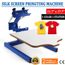 1 Color 1 Station Silk Screen Printing Machine Press Kit T Shirt Equipment Diy