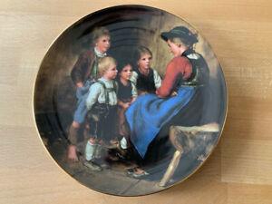 """Wandteller -- Franz von Defregger -- """" Die Geschichtenerzählerin """""""