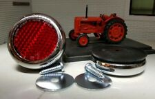 Nuffield Tractor Quality Reproduction Chrome Brass Red Rear Reflectors AJA5045
