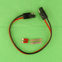 """16 Gauge 12"""" Inch Quick Connect Disconnect SAE Wire Harness, 2 Pin Polarized 12V"""
