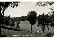 Pretty Scenic Water View-Stillwater-Minnesota-RPPC-Vintage Real Photo Postcard