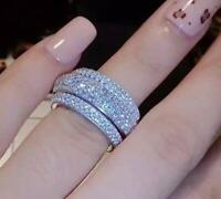 Victoria Wieck Full Pave AAA Cubic Zirconia 925 Sterling Silver Ring Fine NEW