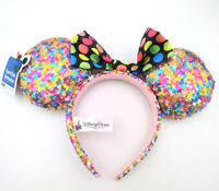 Disney Parks Multicolor Sequins Mickey Minnie Mouse Ears Party Gift Cos Headband