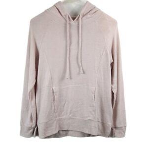 NWT Hippie Rose Marled Sweater Hoodie Lightweight, Pink/Cream, Size Juniors S